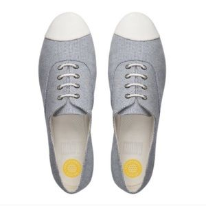 👏offers welcome👏Fitflop F-pop canvas oxford